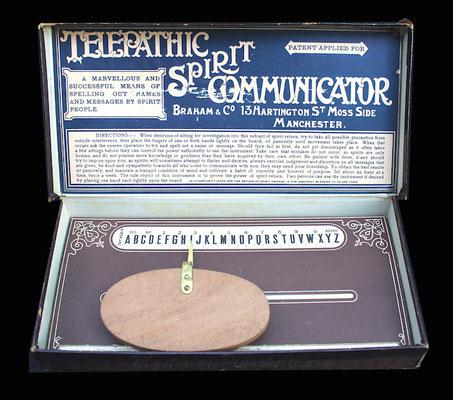 Telepathic Spirit Communicator (um 1900), Bildquelle: MysteriousPlanchette.com #Ouija #Medium #Spiritismus #Parapsychologie #paranormal