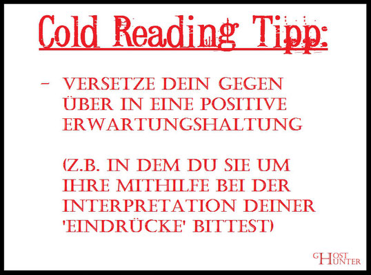 Cold Reading Tipp 6 #ColdReading #Medium #Spiritsmus #paranormal