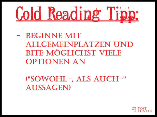 Cold Reading Tipp 7 #ColdReading #Medium #Spiritsmus #paranormal