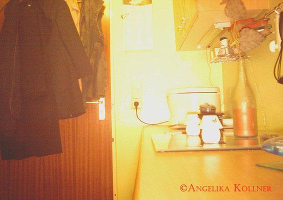Aufbau der Fotofalle in der Küche. Testfoto. #PU-Darmstadt #ghosthunter #paranormal #parapsychologie
