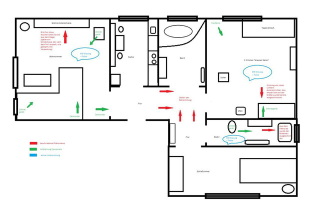Skizze der Wohnung, in der die PU stattfand. #paranormal #ghosthunter #ghost #spuk #geist