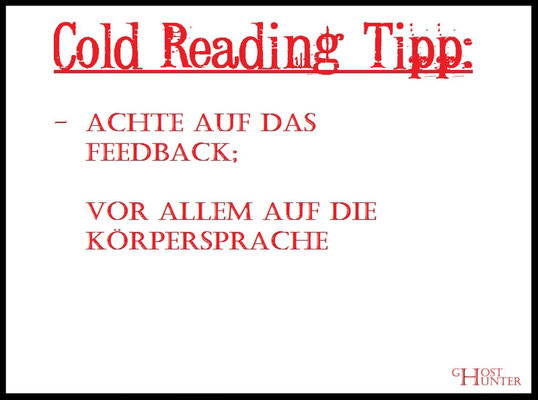 Cold Reading Tipp 5 #ColdReading #Medium #Spiritsmus #paranormal