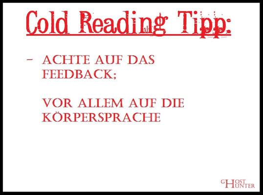 Cold Reading Tipp 5 #ColdReading #Medium #Spiritsmus #paranormal