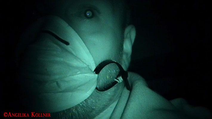 Er konnte während des Wahrnehmungstests nichts Besonderes feststellen. #Ghosthunter #Geisterjäger #paranormal #Ghost