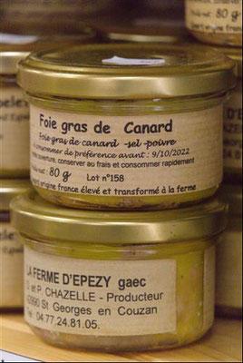 Foie gras de canard en vente dans votre magasin à Sorbiers à proximité de La Talaudière