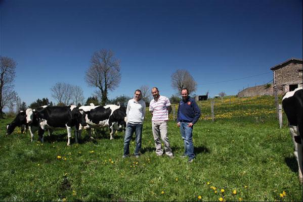 Ferme Coq'Lait dans les Monts du Lyonnais : portrait des 3 associés