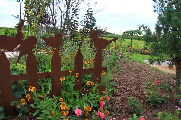 der Garten aus unteschiedlichen Blickrichtungen