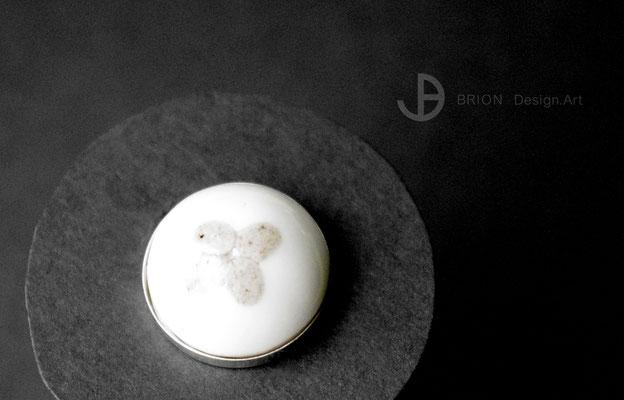 Ring Blume, Porzellan, teilgefärbt, D 18mm H 10mm, 925er Silber verstellbar, 63,00 bei DaWanda