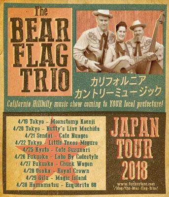 =Bear Flag Trio Japan Tour - April 2018=