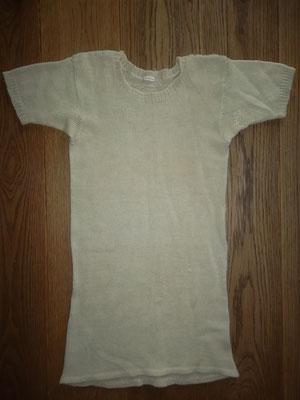 Wollen hemd Gerrie Knetemann, zelf op een breimachine gemaakt door zijn vrouw Gre Knetemann - Donker