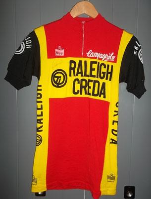 wielertrui TI Raleigh van Ad Wijnands, originele teamtrui van Vittore Gianni.