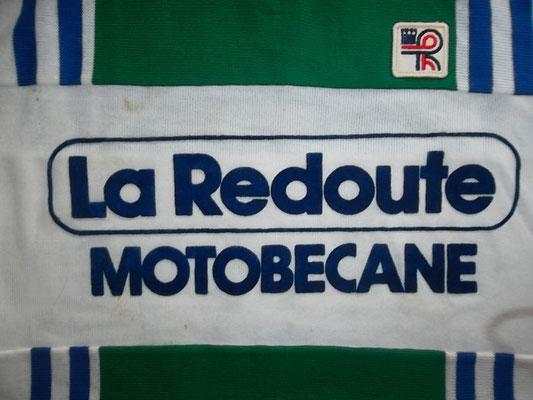 maillot cyclisme vintage original Santinila Redoute Motobecane model Paul Sherwen