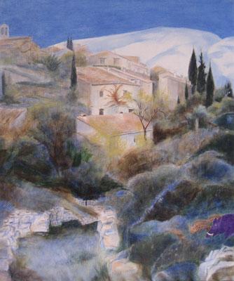 Villeperdrix au printemps, huile, 2007, 54 x 65