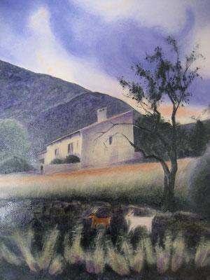 La maison de Calvat, huile, 2013, 38 x 46