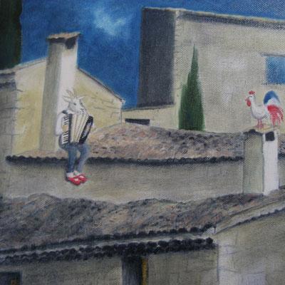Sérénade, huile, 2014, 38 x 46