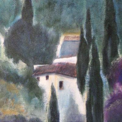 Village provençal (détail), huile, 2015, 60 x 80