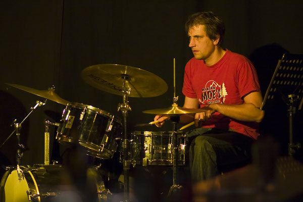Markus am Schlagzeug - Live