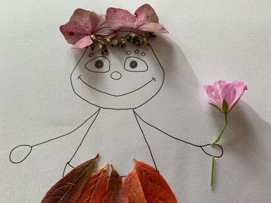 schlaubatz im Blätterkostüm