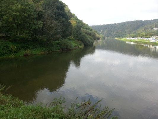 Diemel (links) - Weser (rechts)