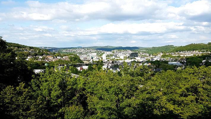 Blick aus dem Hotel nach Siegen