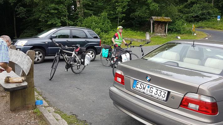 Kurz vor dem Gipfel vom Meißner