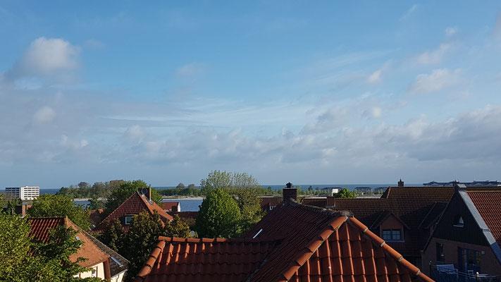 Blick aus den Hotelzimmer auf den Binnensee von Heiligenhafen