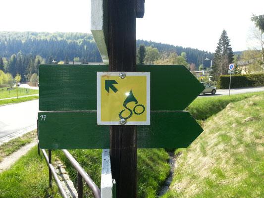 Folge dem Schild!