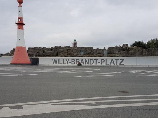 Unterfeuer Bremerhafen am Willy-Brandt-Platz