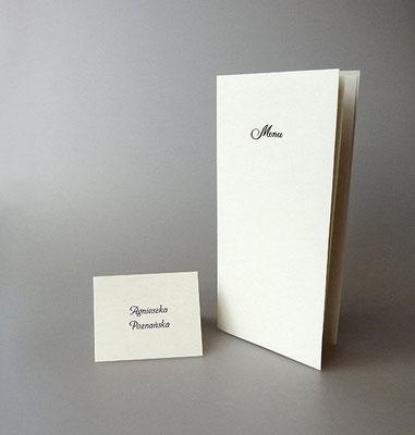 Menü- und Tischkarte zur Taufe 2053, Preis 4,70 EUR