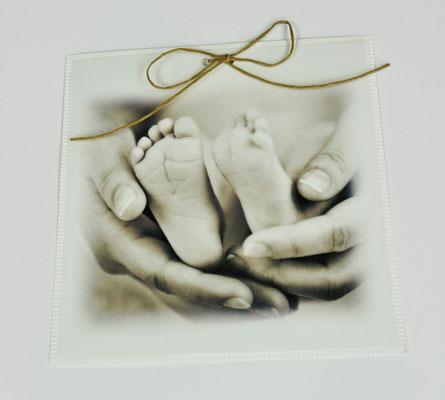 Geburtskarten mit Foto und Briefumschlag 1440