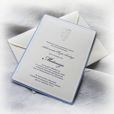 Einladung zur Taufe 1748 blau, Preis 4,70 EUR