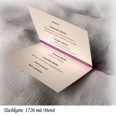 Tisch- und Mnükarte