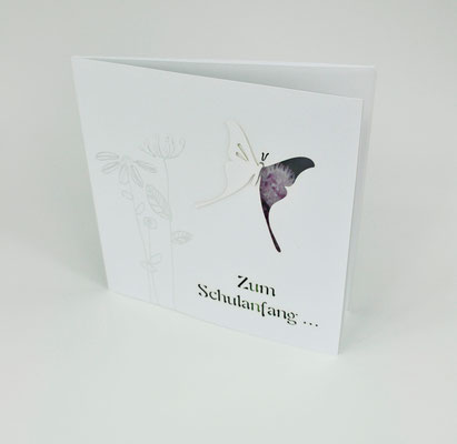 Glückwunschkarten zur Einschulung, mit Text und Briefumschlag