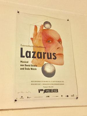 plakat lazarus, volkstheater wien
