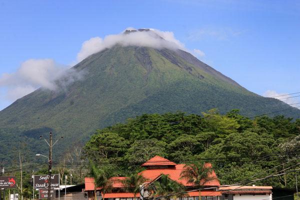 Der Vulkan Arenal von La Fortuna aus