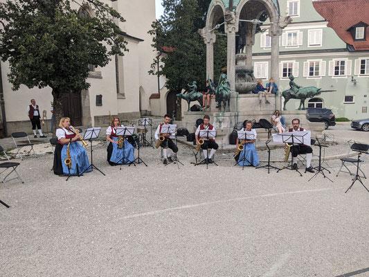 Standkonzert St.-Mang-Platz - Saxophon-Ensemble