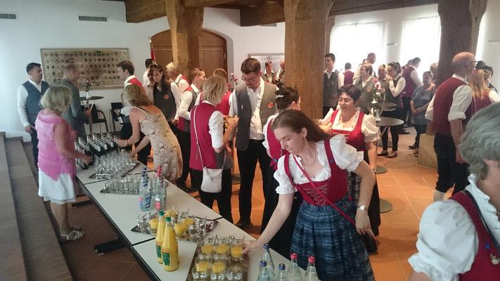 Empfang der Stadtkapelle Sopron 2017