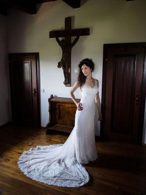 Braut getting ready auf Burg Lockenhaus