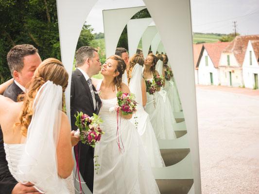 Hochzeitsfoto in der Kellergasse