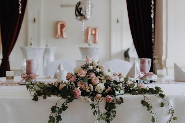 Hochzeitstafel im Reichensteiner Hof in Poysdorf