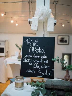Hochzeitstafel im Felmayergarten in Schwechat