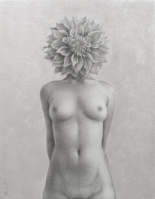 「anonymⅡ」/ 18x14cm / Pencil, acrylic gouache on paper.