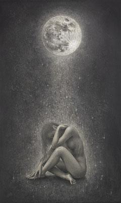 「Prayer」/ 455x273mm / Pencil, watercolor on paper.