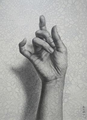 「やわらかく紡がれていくこと。」/ 24x16cm / Pencil, acrylic gouache on paper.