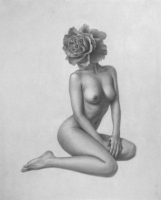 「Flora」/ 27.3x22cm / Pencil, watercolor, acrylic gouache on paper.