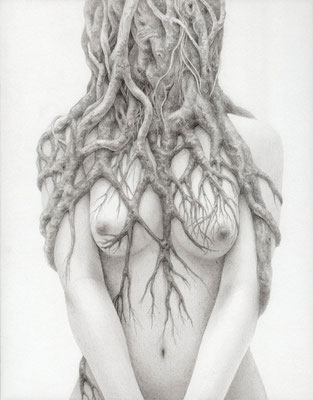 parasitic symbiosis / 2013 / pencil on paper / 180×140mm
