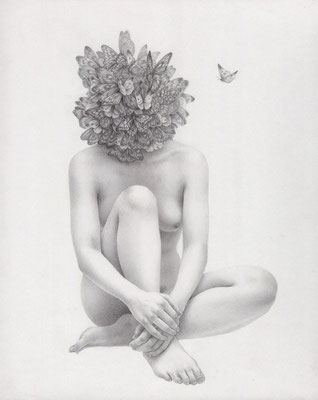 胡蝶の夢 / 2013 / pencil on paper / 273×220mm