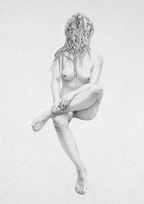 開いて流れて結んで / 2012 / pencil on paper / 1456×1030mm