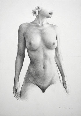 「drawing-女-」/ 227×158mm / pencil on paper /2016