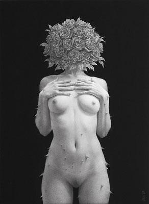「ジレンマ」/ 333x242mm / Pencil, acrylicgouache on paper.